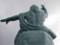 長崎原爆の日によせて平和祈念像の後ろ頭を…。ヘ(。。ヘ)☆\バキ