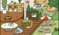 [ゲーム]ウッドデッキの風景