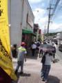 [社会運動]町内に入る平和行進団(裏)
