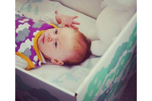 ムーミンの赤ちゃん用品が入っていたBOX自体がベット