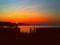 夕焼け猪苗代湖
