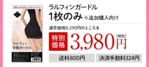 ラルフィンガードル1着の値段3980円イラスト