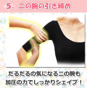 マジカルボディスリマーの二の腕引き締め効果図