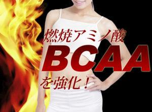 ダイエットサプリメントのディスコ(DISCO)には、脂肪を燃やすアミノ酸のパワーが強化されていることを、真っ赤な炎と、スタイルの良い女性をモデルにアピールしている写真。
