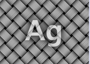 加圧ソックスのメディソックスナイトは、銀イオンが配合されているという、Agのマークの写真。