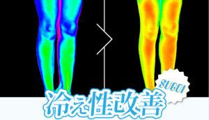 着圧ソックスのアイスマジックスリムを履いている時と、履いていない時のサーモグラフィー写真