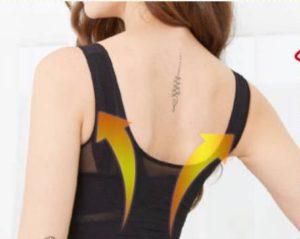 マジカルマスリーボディーシェイパーという加圧インナーを着ている女性の背中の写真②