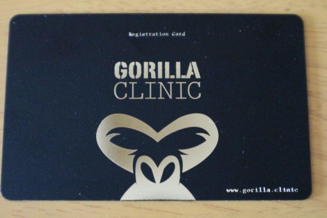 ヒゲ脱毛のクリニックであるゴリラクリニックの無料カウンセリングで作成されたヒゲ脱毛の診察券を示す画像