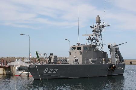 第1ミサイル艇隊のミサイル艇1号型(PG821)