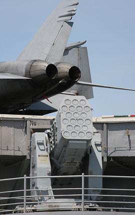 空母キティホークに装備された近接防御兵器、RIM-116 RAM
