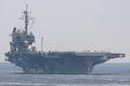 [艦船]2008年5月28日 浦賀水道航路を南航する空母キティホーク