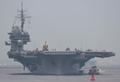 [艦船]2005年8月27日 横須賀港に入港する空母キティホーク