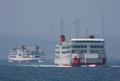 [艦船]浦賀水道航路を行き交う東京湾フェリー