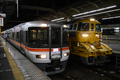 [鉄道]2008年7月27日静岡駅にて 373系とキヤ97形