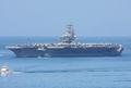 [艦船]2008年7月28日 佐世保に入港する空母ロナルド・レーガン