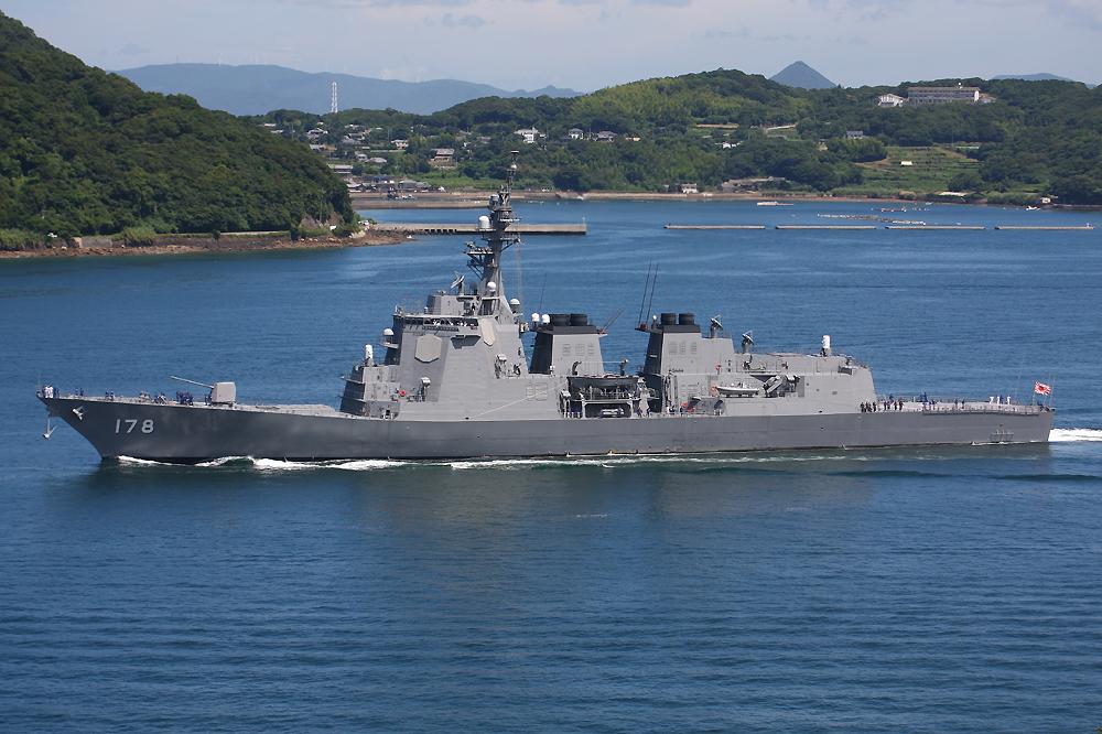 佐世保を出港するミサイル護衛艦あしがらDDG178# 個別「[艦船]佐世保を出港するミサイル護衛