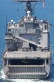 [艦船]ドック形揚陸艦ハーパーズ・フェリーを艦尾から見る