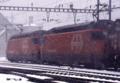 [鉄道]雪のゲッシェネンを発車するスイス国鉄Re4/4 460形重連