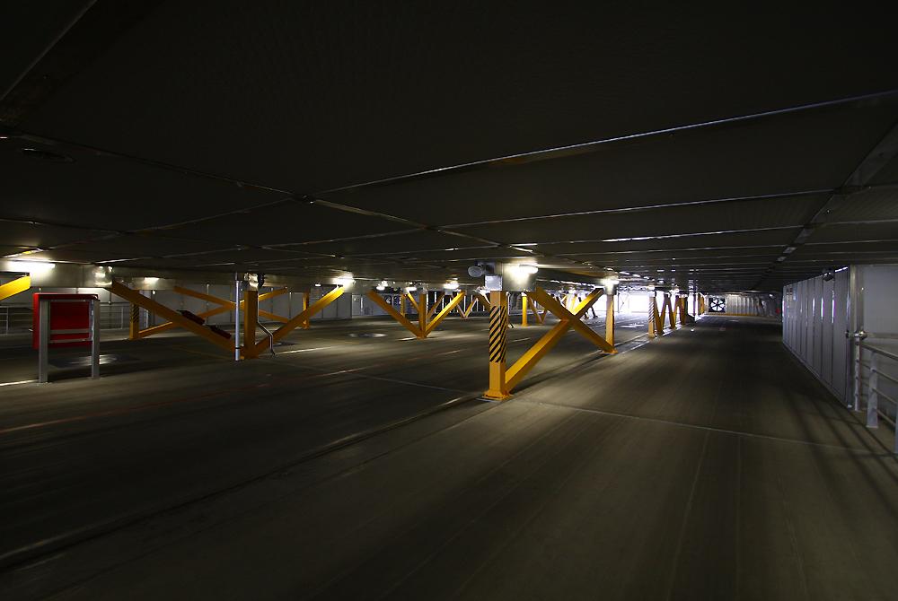 ナッチャンWorldの上層車両甲板(T2レベル)