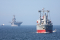 [艦船]2010年7月17日 浦賀水道航路を北航する強襲揚陸艦エセックスUSS ESSEX LH