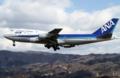 [飛行機]2014年3月15日福島空港をローパスする全日空の747-481(D)(JA8961)