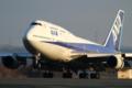 [飛行機]2014年3月15日福島空港に着陸する全日空の747-481(D)(JA8961)