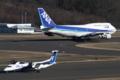 [飛行機]2014年3月15日福島空港をタキシングする全日空の747-481(D)(JA8961)