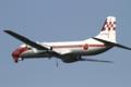 [飛行機]2014年7月15日 厚木に着陸する飛行点検隊のYS-11FC(12-1160)