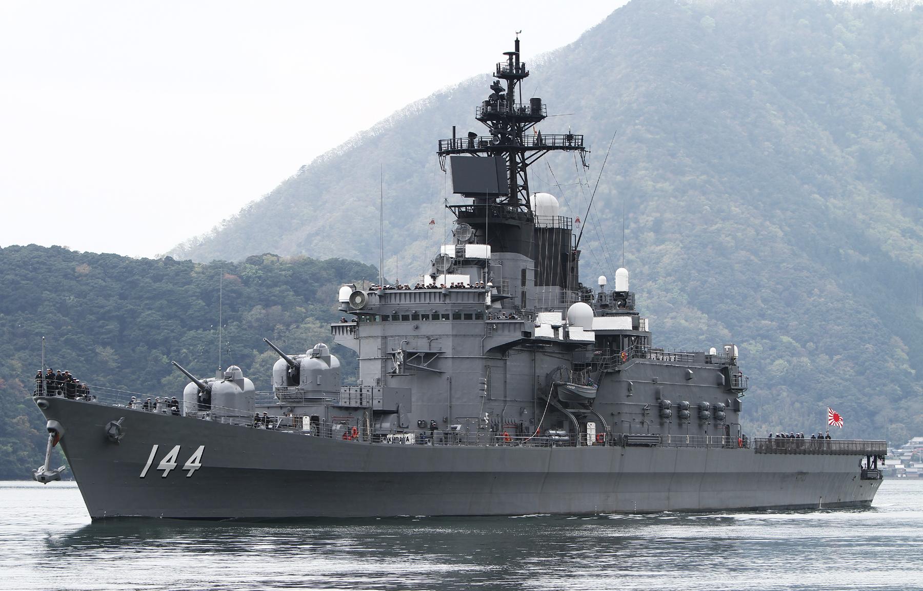 2015年4月19日舞鶴に入港するくらまJS Kurama DDH144