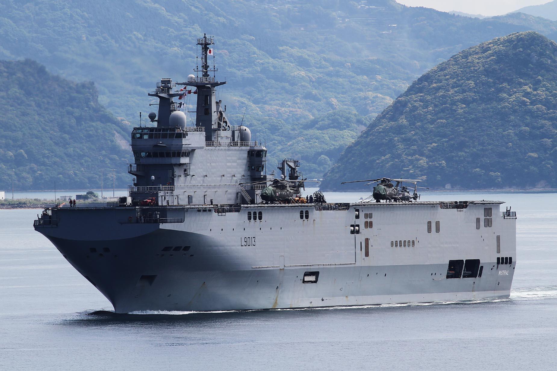2017年5月5日佐世保を出港するミストラルFS Mistral L9013
