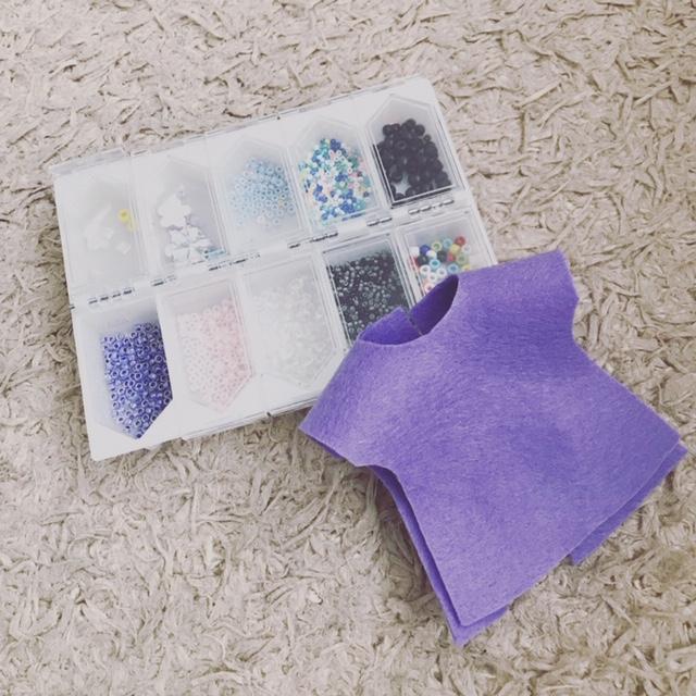 ブライスbunちゃんの洋服の型紙とビーズケース
