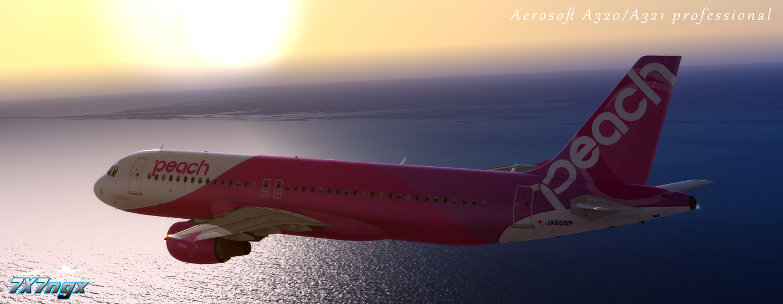 Aerosoft A320/321 Professional Peach Aviation JA805P&Mariko