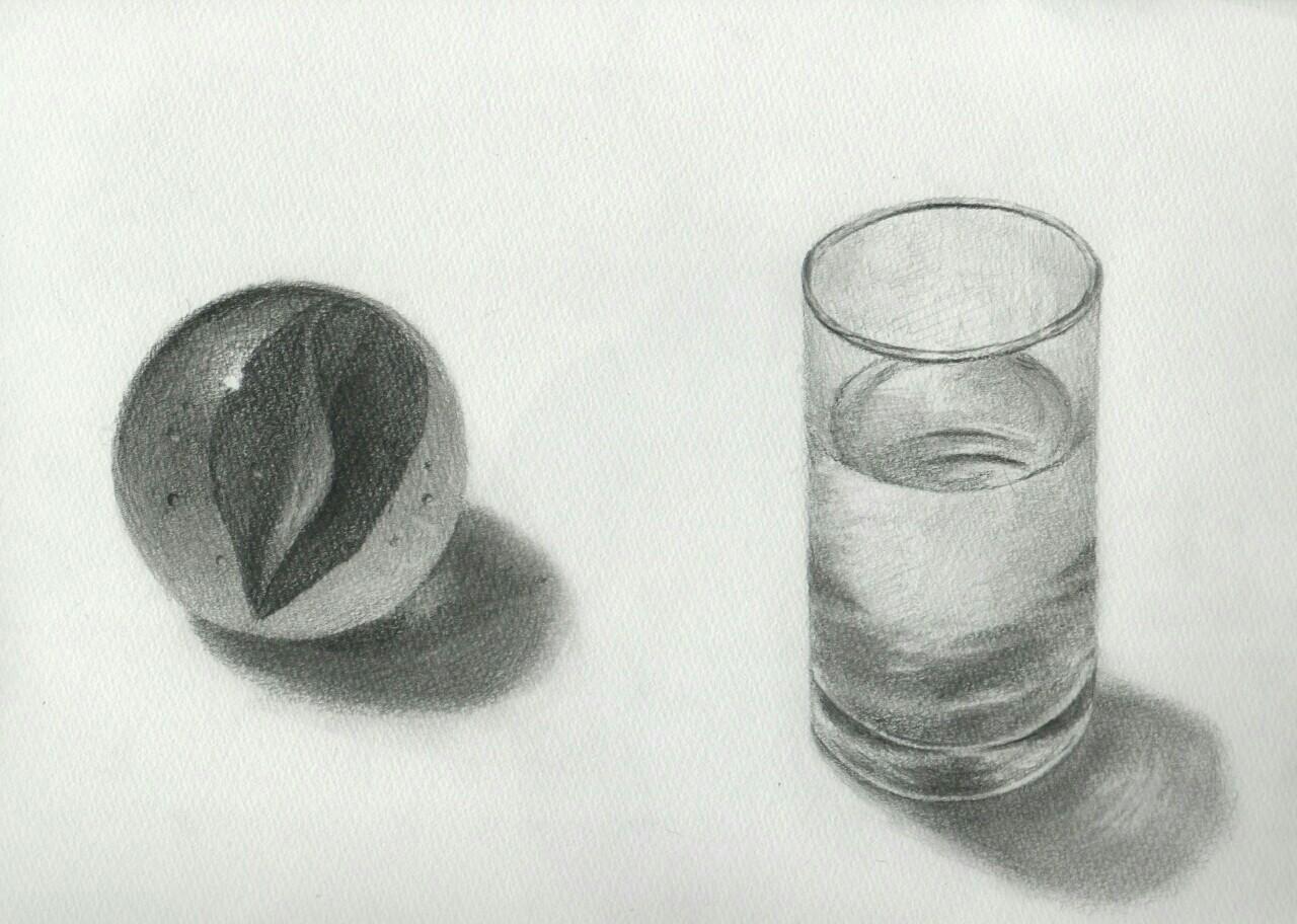 透明なもののデッサンの描き方グラスビー玉の描く 今日このごろ