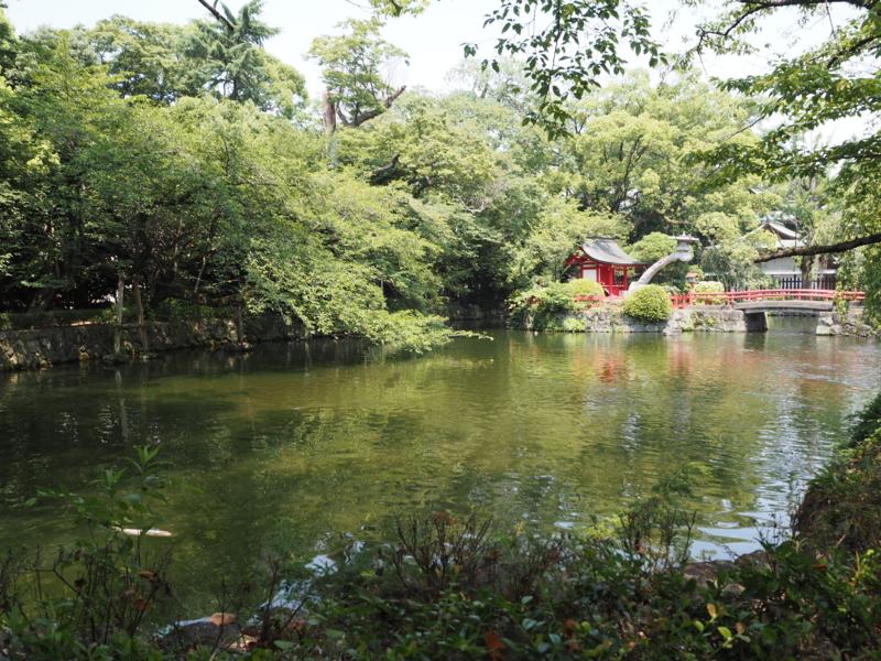 三嶋大社境内の池