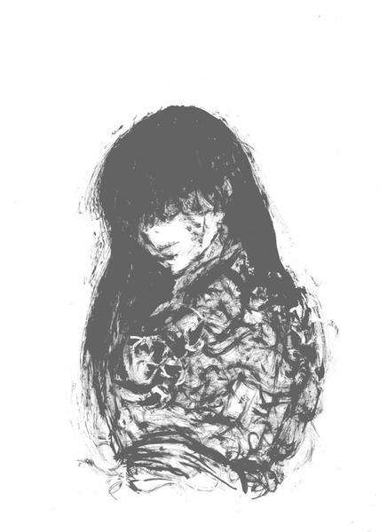 筆での抽象画2