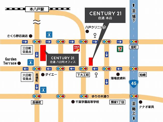 センチュリー21 住通 本社・八日町オフィス アクセスMAP