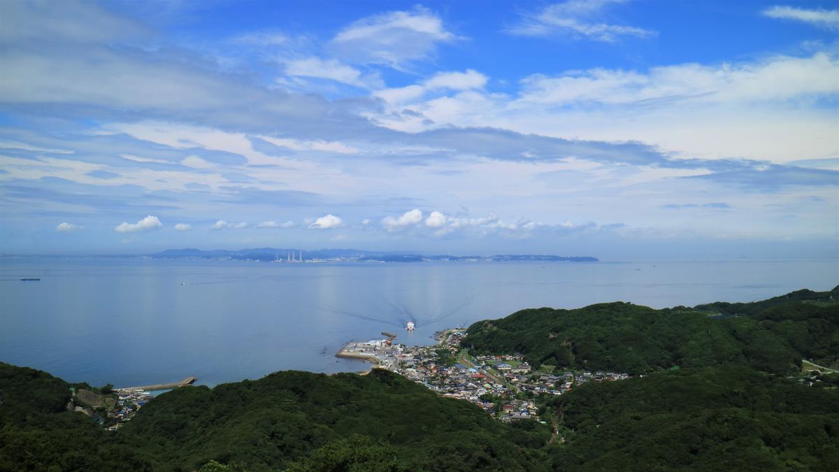 鋸山(千葉県)の頂上からの景色