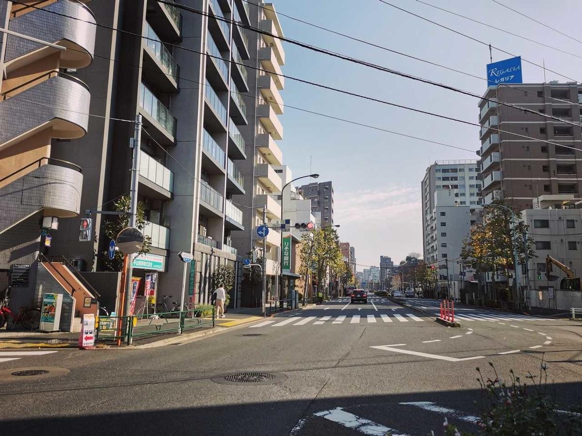 都電早稲田駅から撮った風景写真
