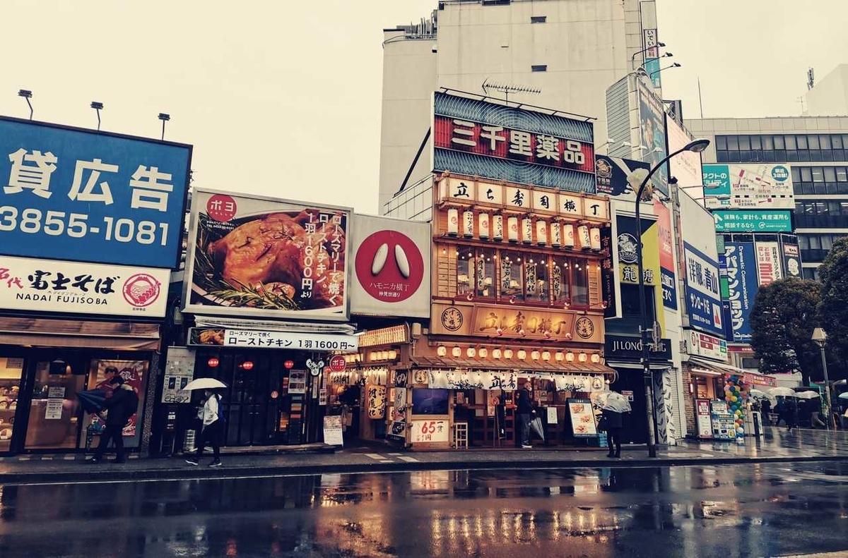 吉祥寺駅北口のバス停から撮影