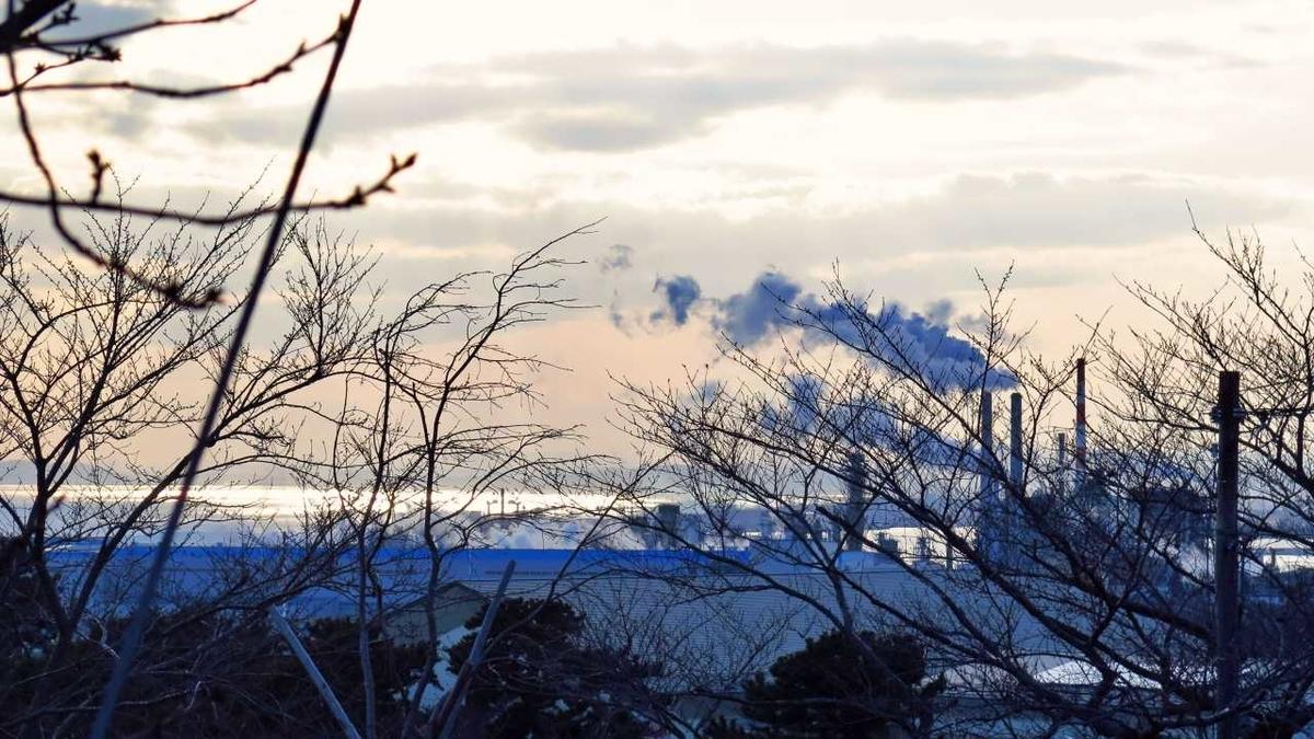 石巻市日和山からの風景