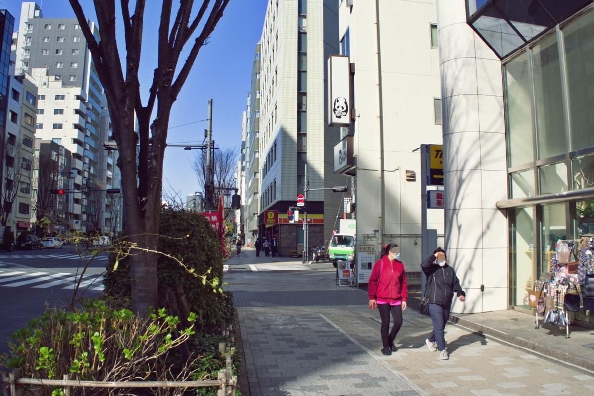都営浅草線の東日本橋駅のB3出入口とその周辺
