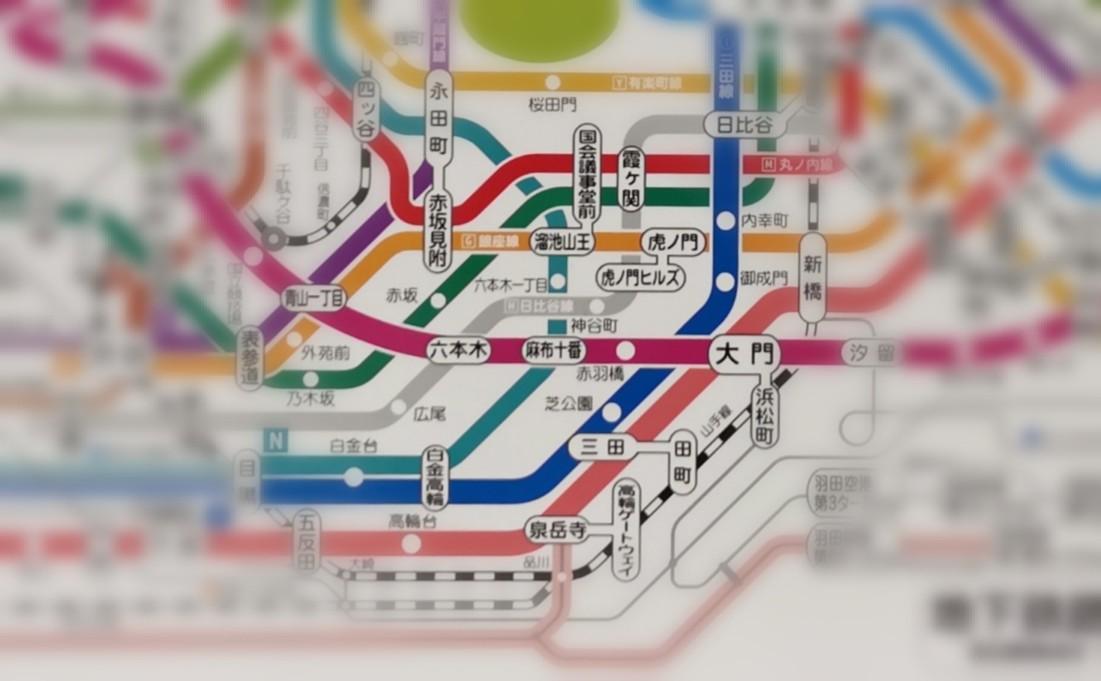 麻布十番駅の位置