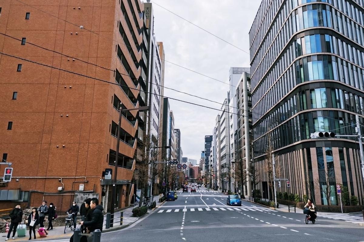 JR京葉線/東京メトロ日比谷線 八丁堀駅付近