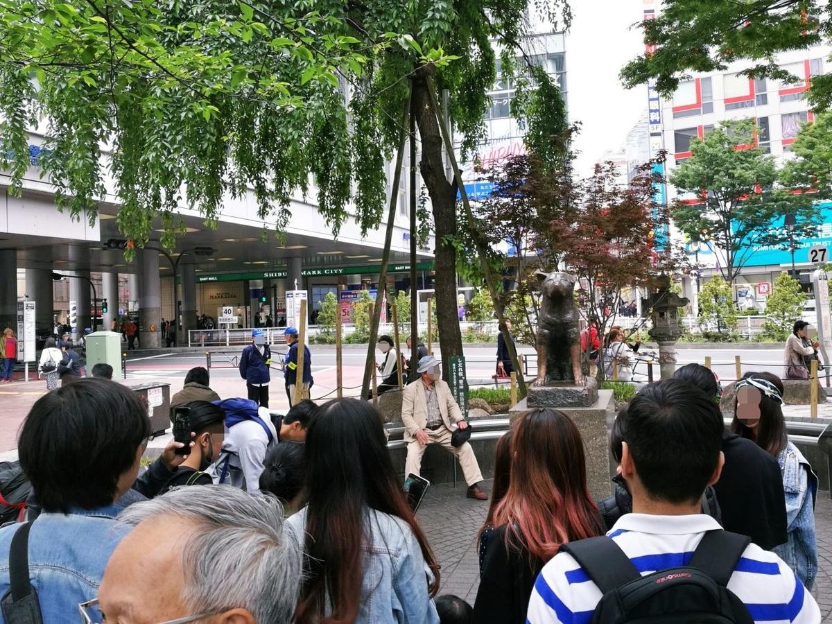 JR渋谷駅前の忠犬ハチ公像