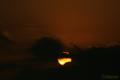 2010.01.15 日没時の部分日食