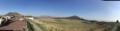 草千里(左から杵島岳、中岳、烏帽子岳)