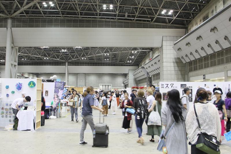 「真夏のデザインフェスタ 2018」会場の様子。東京ビッグサイト東4、5、6ホールでの開催です。