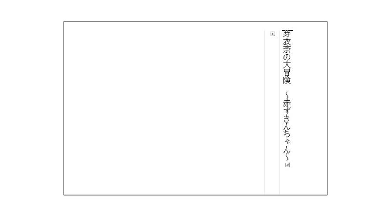 小説のタイトルは「芽衣奈の大冒険 ~赤ずきんちゃん~」。主人公の芽衣奈(娘さんの名前)が、赤ずきんちゃんの世界に迷い込んだという設定です!