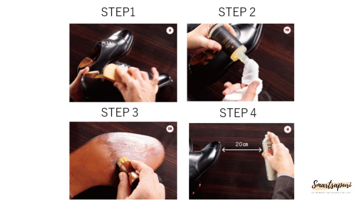 スムースレザー靴磨きの方法