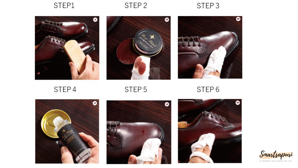 コードバン靴磨きの方法